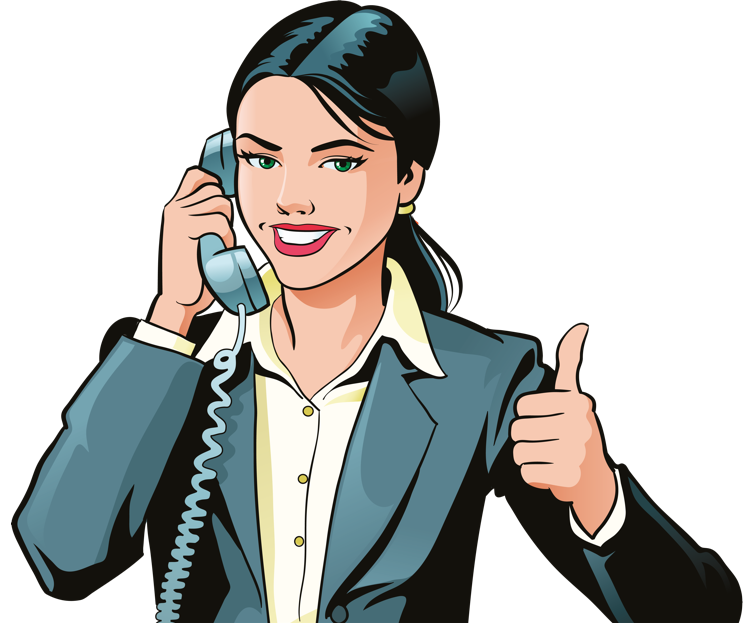 Woman giving a thumbs up while on the phone animation